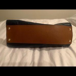 Michael Kors Bags - Michael Kors Satchel Purse Navy Blue Saddle Brown